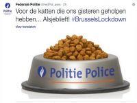 Belçika polisinden 'kedi mamalı' teşekkür