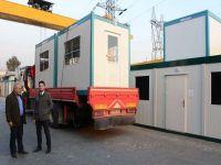 Türkiye'den Avrupa'daki mültecilere prefabrik ev