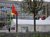 Belçika, PKK çadırı kaldırtmadı