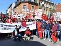 Belçikalı Türkler PKK'yı protesto etti