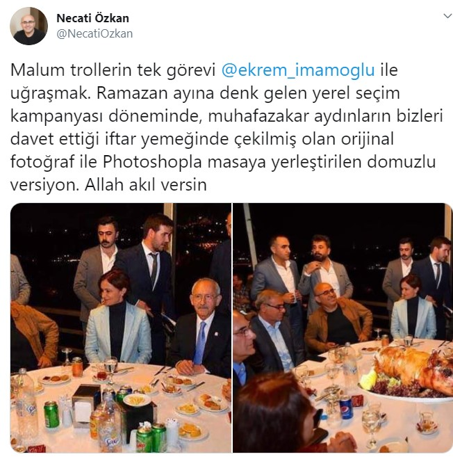 Kılıçdaroğlu, Kaftancıoğlu ve İmamoğlu'nun masasına o domuz nasıl kondu?
