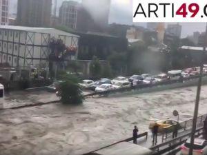 İstanbul'da yağmura teslim