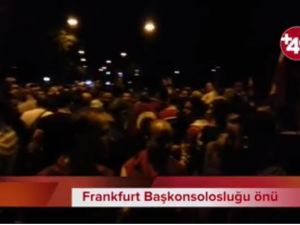 Frankfurt'ta darbe girişimine karşı protesto
