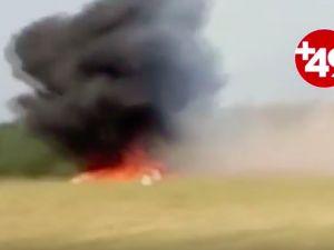 Uçak düşerken kamera kayıttaydı