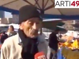 Pazarcı amca Türkiye ekonomisini anlatıyor