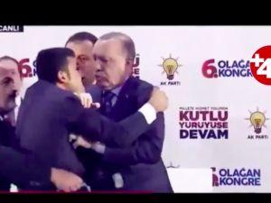 Erdoğan'ın üstüne atlayan vatandaş korkuttu