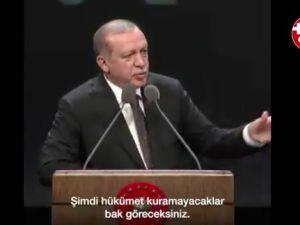Erdoğan: Almanya koalisyonu kuramayacak