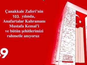 Çanakkale Zaferi'nin 103. yılı