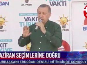 Erdoğan: Arkadaşlar İzmir'de değil, Denizli'deyiz