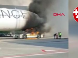 Frankfurt Havalimanı'nda korkutan yangın