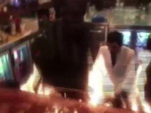 Nusret'te şov yaparken müşterileri yaktılar