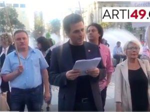 CHP Almanya'da Erdoğan'ı protesto etti