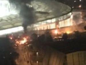 Vodafone Arena'da patlama sonrası ilk görüntüler