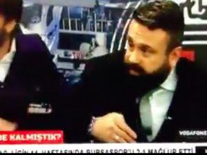 Patlama anında BJK TV canlı yayında