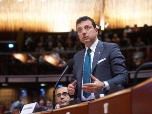 İmamoglu, Avrupa Konseyi'nde konuştu
