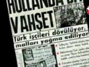 Hollanda'da Türk iş yerlerini taşlayan Hollandalılar (1972)